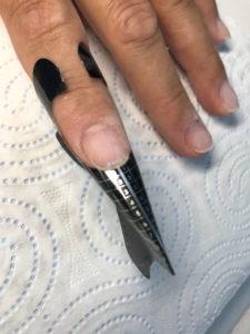 szablon do przedłużania paznokci lakierem hybrydowym